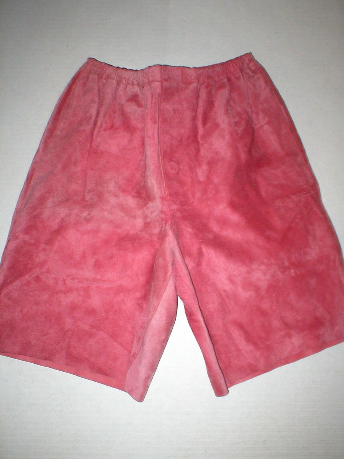 Primary image for WOW New Womens 2 NWT Italy Designer Marni Shorts 38 Pink Rouge Red Leather Suede