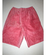 WOW New Womens 2 NWT Italy Designer Marni Shorts 38 Pink Rouge Red Leath... - $607.23