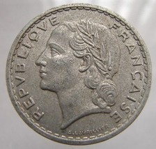 FRANCE MARIANNE COIN Vintage Over 60 Years Old Marianne 1949 5 Francs Al... - $4.99