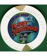 $1 Casino Chip, Planet Hollywood, Las Vegas, NV. B43. - $3.25
