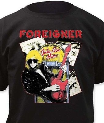 Foreigner T Shirt Juke Box Hero retro 80's rock concert printed 100% cotton tee