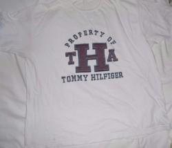 Xxl 2 Xl Tommy Hilfiger S/S White Graphic T Shirt Vintage Property Of Tha Cotton - $19.79