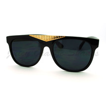 Fancy Gold Triangle Flat Top Sunglasses Hot Celebrity Fashion - $7.95