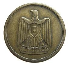 Vintage 1960 AH 1385 EGYPT EAGLE 10 milliemes Brass Coin - $6.99