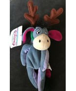 Disney Store Bean Bag Plush Reindeer Eeyore Winnie the Pooh Christmas NW... - $8.90