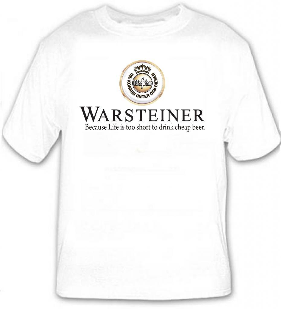 Warsteiner German Beer T Shirt S M L XL 2XL 3XL 4XL 5XL