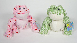 NWT WEBKINZ LOT 2 SPOTTED & PINK VALENTINES LOVE FROG  RETIRED SEALED CO... - $15.98