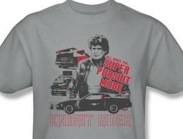 Knight Rider T-shirt KITT David Hasselhoff retro 1980's TV cotton tee NBC196 image 1