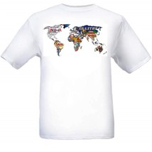 World Beer Map T Shirt S M L XL 2XL 3XL 4XL 5XL - $16.99+