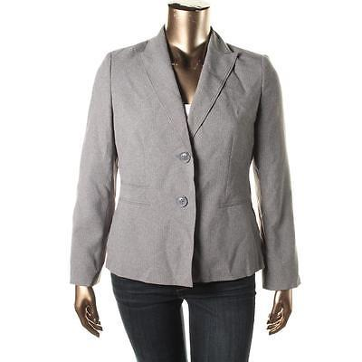 Le Suit Country Club Grey Pinstripe 2pc Suit Pants Blazer Jacket New w Tags $200