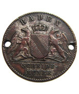 ANTIQUE GERMANY BADEN 1 kreuzer 1871 Victory in War with France Silvered... - €13,24 EUR