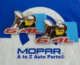 """(2) NEW Dodge Challenger """"SCAT PACK 6.4"""" Fender Nameplates /  Emblems,Mopar - $103.95"""