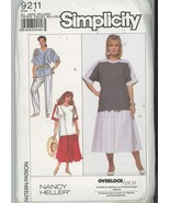 Plus Size Tops and Skirts Simplicity 9211 Size 18-20, 22-24, 26-28, 30-3... - $5.50