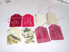 Old Fashioned Memories Series Handmade Christmas Gift Tags Postcard Images - $4.99