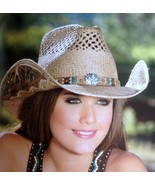 Bullhide Panama Straw Hat Women's Western Style FROM THE HEART Sizes S, ... - $84.99+