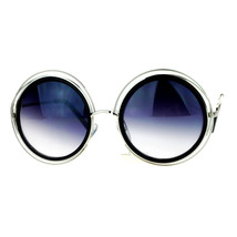 Womens Designer Fashion Sunglasses Plastic/Metal Wired Round Frame - $10.95