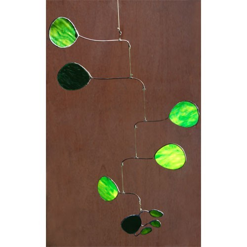 Green Amoeba Stained Glass Mobile