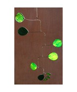 Green Amoeba Stained Glass Mobile - $165.00