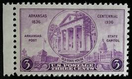 1936 3c Arkansas Statehood Centennial Scott 782 Mint F/VF NH - $0.99