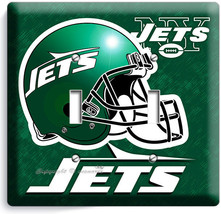 NY NEW YORK JETS NFL FOOTBALL TEAM DOUBLE LIGHT SWITCH WALL PLATE BOYS B... - $9.71