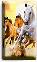 LIPIZZAN STALLION MUSTANG HORSES PHONE JACK TELEPHONE WALL PLATE COVER H... - $8.90