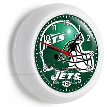 New York Jets Nfl Football Team Logo Wall Clock Man Cave Boys Tv Room Art Decor - $23.39