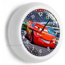 Cars Lightning Mcqueen Racing Track Wall Clock Boys Bedroom Room Art Home Decor - $21.05