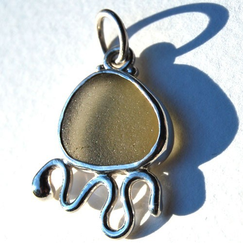 Grey Sea Glass Critter Pendant