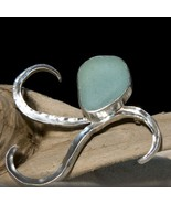 Sea Glass Brooch - Forged Sterling Silver - $200.00