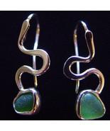 Green Sperm Earrings - Sterling Silver - $200.00