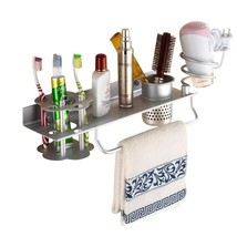 Bathroom Hair Dryer Holder Hair Blow Dryer Comb Holder Organizer Shelf R... - $47.50