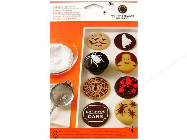 Martha Stewart Holidays Vampire Cupcake Stencils-NIP