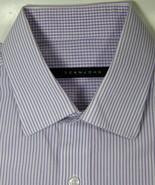 SEAN JOHN 15.5 x 34/35 Purple White Stripe Dress Shirt Excellent - $99.99