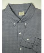 J. CREW XL 17-17.5 Gray Black Plaid 2-Ply Cotton Excellent Dress Shirt RARE - $99.99