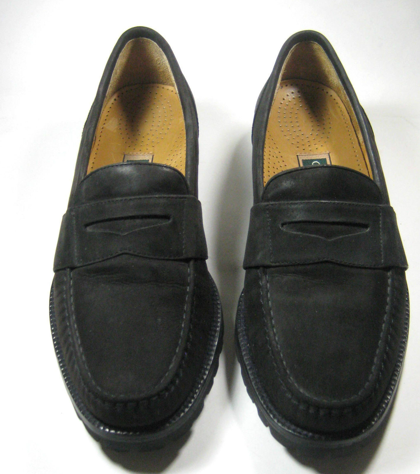 0a909b9a647  295 COLE HAAN 7.5M VIBRAM Sole Dark Rich Brown Suede Loafer Excellent