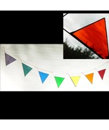 Rainbow of Triangles Stained Glass Mobile - $100.00