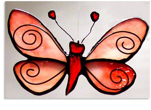 Stained Glass Butterfly Moth