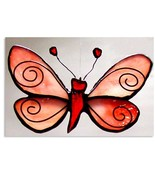 Stained Glass Butterfly Moth - $65.00