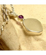 Sea Glass Pendant with Amethyst - $165.00