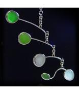 Shades of Green, Aqua and White Sea Glass Mobile--AutoMobile - $600.00
