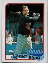 1989 Topps Baseball Card, #577, Randy Bush, Minnesota Twins - $0.99