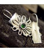 Green Topaz Daisy Earrings - $150.00