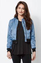WOMEN'S/JRS Kendall & Kylie NYLON Bomber Jacket MED BLUE NEW $75 - $59.99