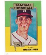 #139 Warren Spahn 1980 Baseball Immortals Main Set - $12.75