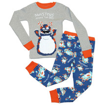 "Lazy One Children's Toddler Pajama's Set Blue ""... - $22.43"
