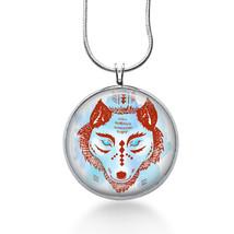 Tribal Wolf Necklace - Animal Jewelry - Pendant - $18.32