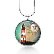 Lighthouse Necklace -Travel Jewelry - Pendant - $18.32