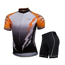 ZEROBIKE® Men's Short Sleeve Breathable Cycling Jersey 3D Padded Shorts S... - $30.68