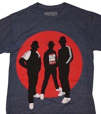 Run DMC T Shirt retro 80's vintage rap hip hop graphic tri-blend printed tee