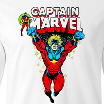 Captain Marvel T shirt retro Marvel Comics Mar-Vell Silver Surfer long sleeve image 2